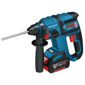 Bosch Professional GBH 18 V-EC Akku-Bohrhammer mit SDS-plus, 2x4,0 Ah Akku, EC-Motor, 2,6 kg inkl. Akku, 18 V, L-Boxx