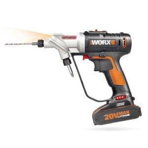 Worx SwitchDriver WX176.3 20 V Akkuschrauber drehbares Bohrfutter 2x Akku