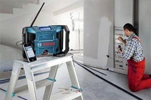 Bosch Akkuschrauber Set 10,8 V Akku-Bohrschrauber GSR 10,8-2-Li Prof. + Akku-Radio GML 10,8 V-Li Prof. inkl. 3x Akku 2,0 Ah und Ladegerät in L-Boxx