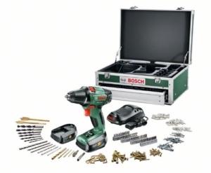 Bosch PSR 14,4 Li 2 HomeSeries Akku-Bohrschrauber + 241 tlg. Zubehör-Set + Toolbox + 2 Akkus und 1-Std.-Ladegerät (14,4 V, max. 40 Nm)