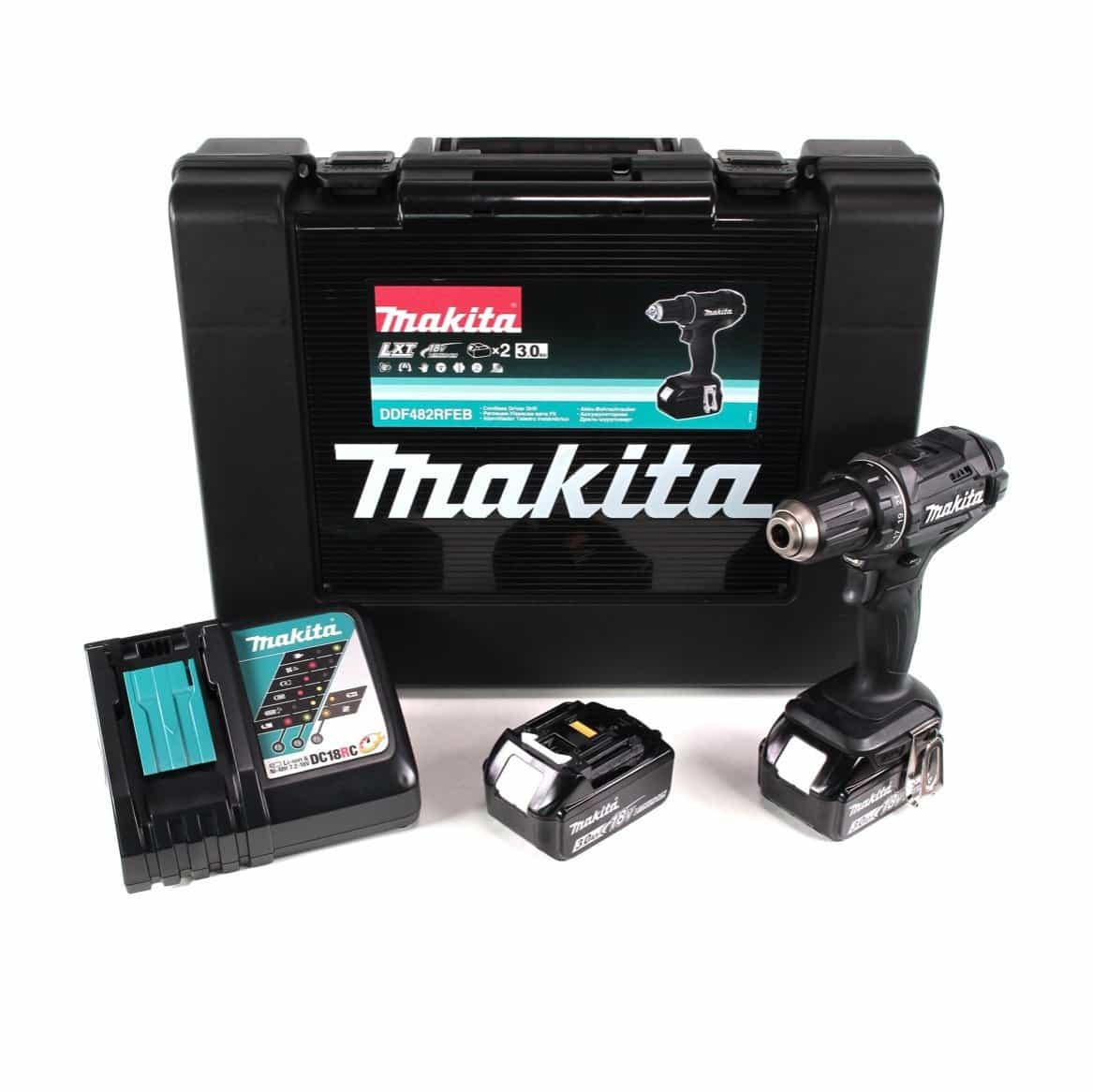 makita schwarz 18v 3 ah akku bohrschrauber ddf482rfeb. Black Bedroom Furniture Sets. Home Design Ideas
