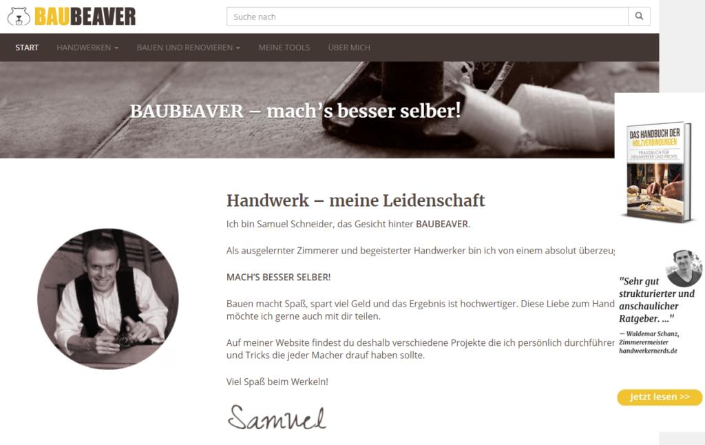 Handwerker Blog Samuel Schneider Baubeaver
