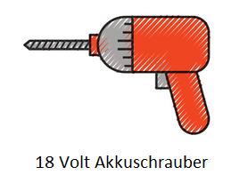 Akkuschrauber mit 18 Volt