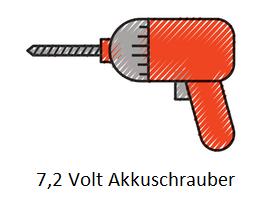 Akkuschrauber mit 7,2 Volt
