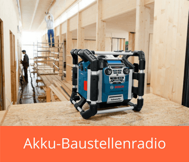 Akku-Baustellenradio