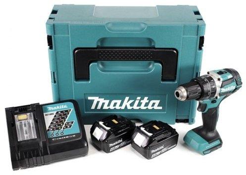 Makita Akku-Schlagbohrschrauber DHP484RTJ mit 2 Akkus