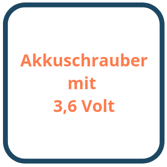 Akkuschrauber mit 3,6 Volt