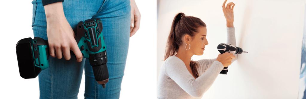 Akkuschrauber für Frauen mit 18 Volt fürs Schrauben und Bohren