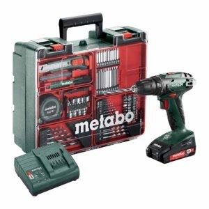 Metabo Akku-Bohrschrauber BS 18 Set mit viel Zubehör